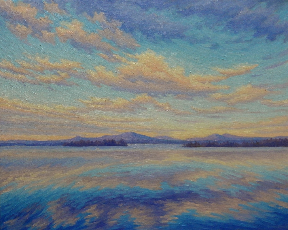 April Relfections: Lake Brome, 2014, oil/canvas, 16x20 inches