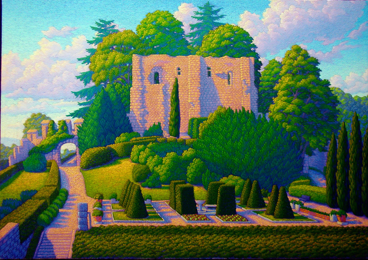 Chateau de Langeais oil/canvas 24 x34 inches