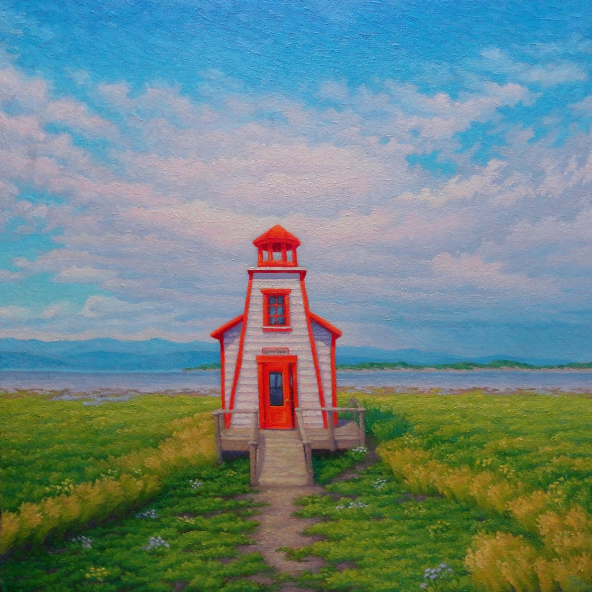 L'Avenir commence à Kamouraska, 24 x24 inches, oil/ panel