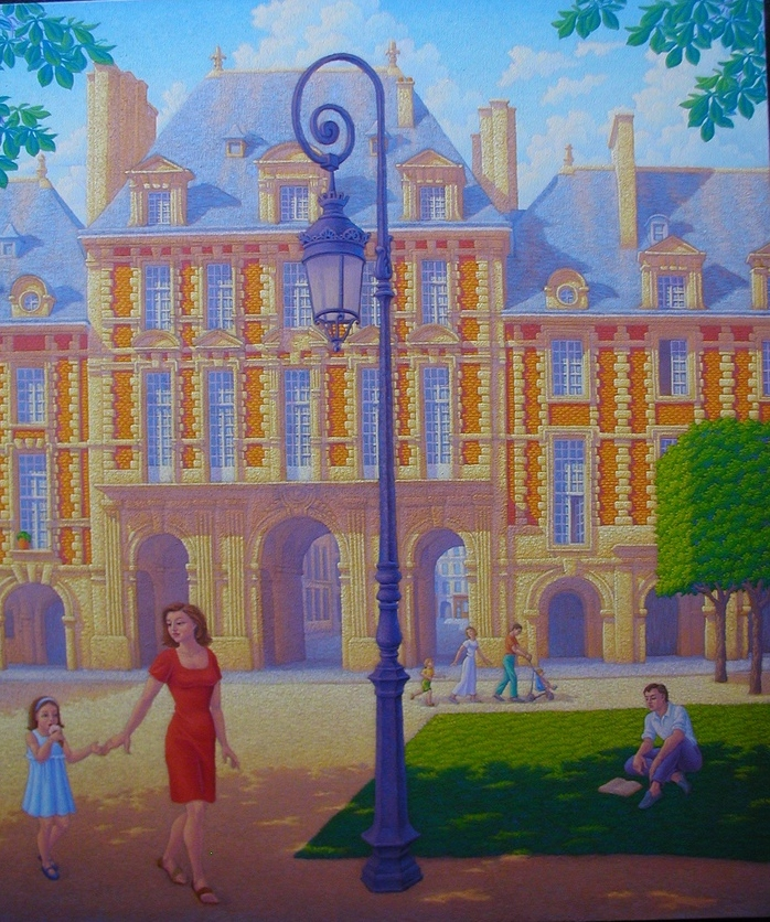 Places des Vosges. Oil/canvas  32x38 inches