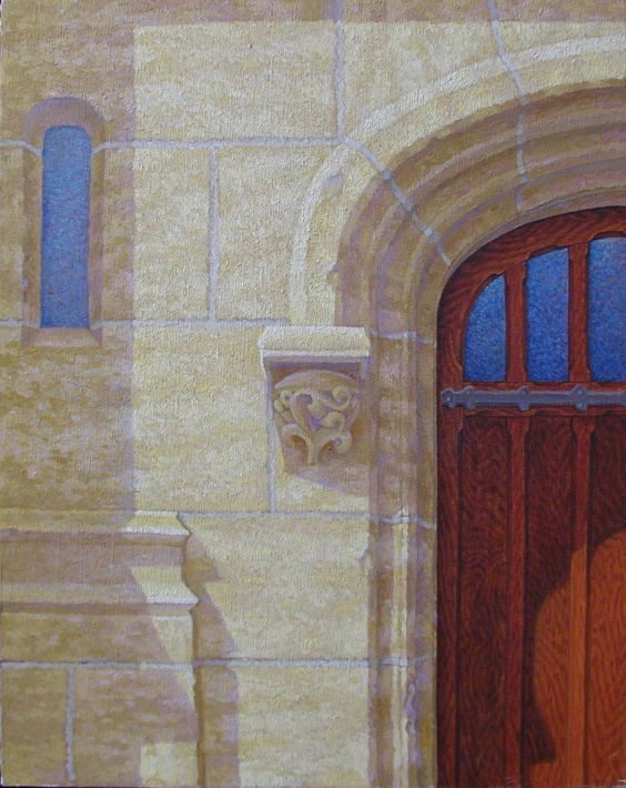 La Porte de la Collegiale, Poissy, France. oil/canvas,16x20 inches