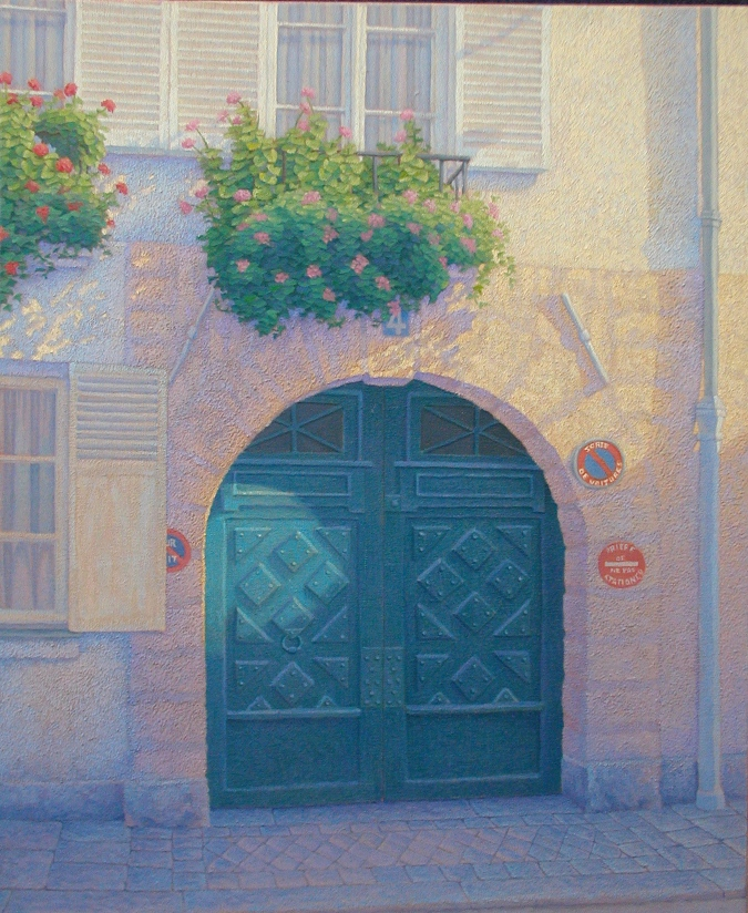Porte Isle St-Louis 2001, oil/canvas, 20 x 24 inches