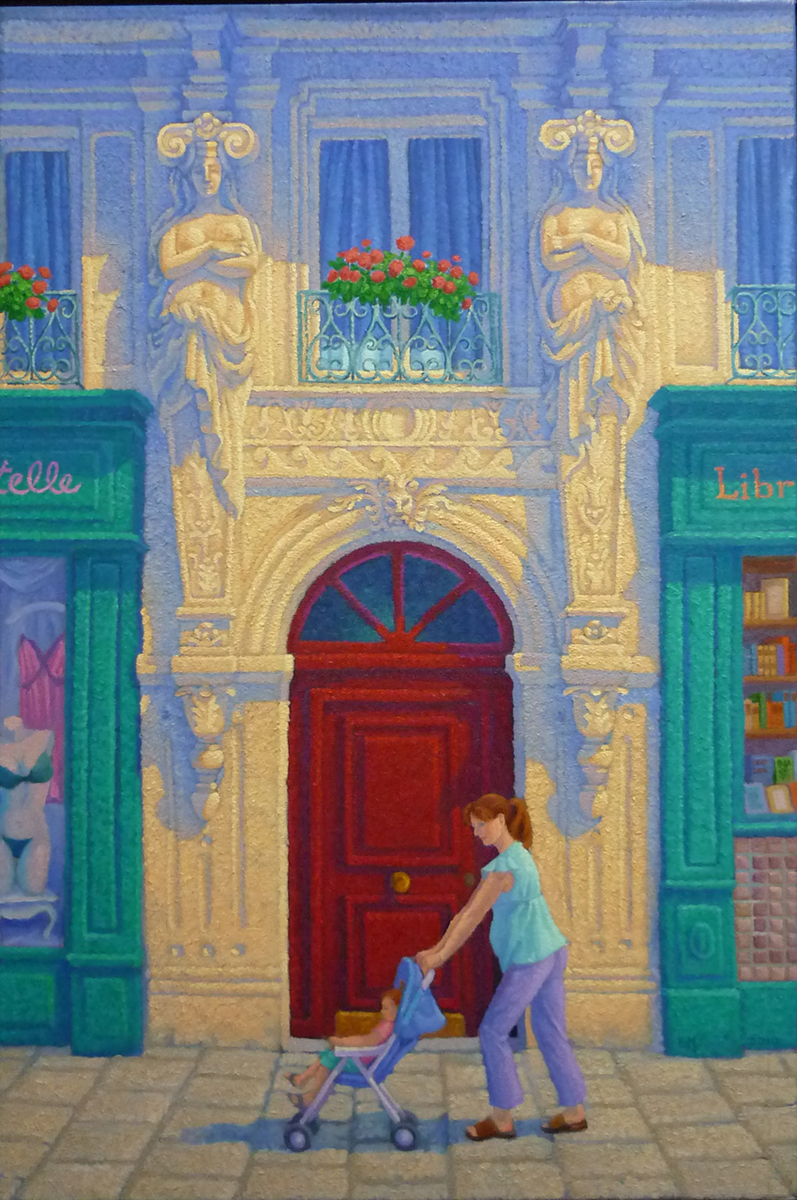 The Ideal Woman, Rue Monge, Paris. oil/canvas,20x30