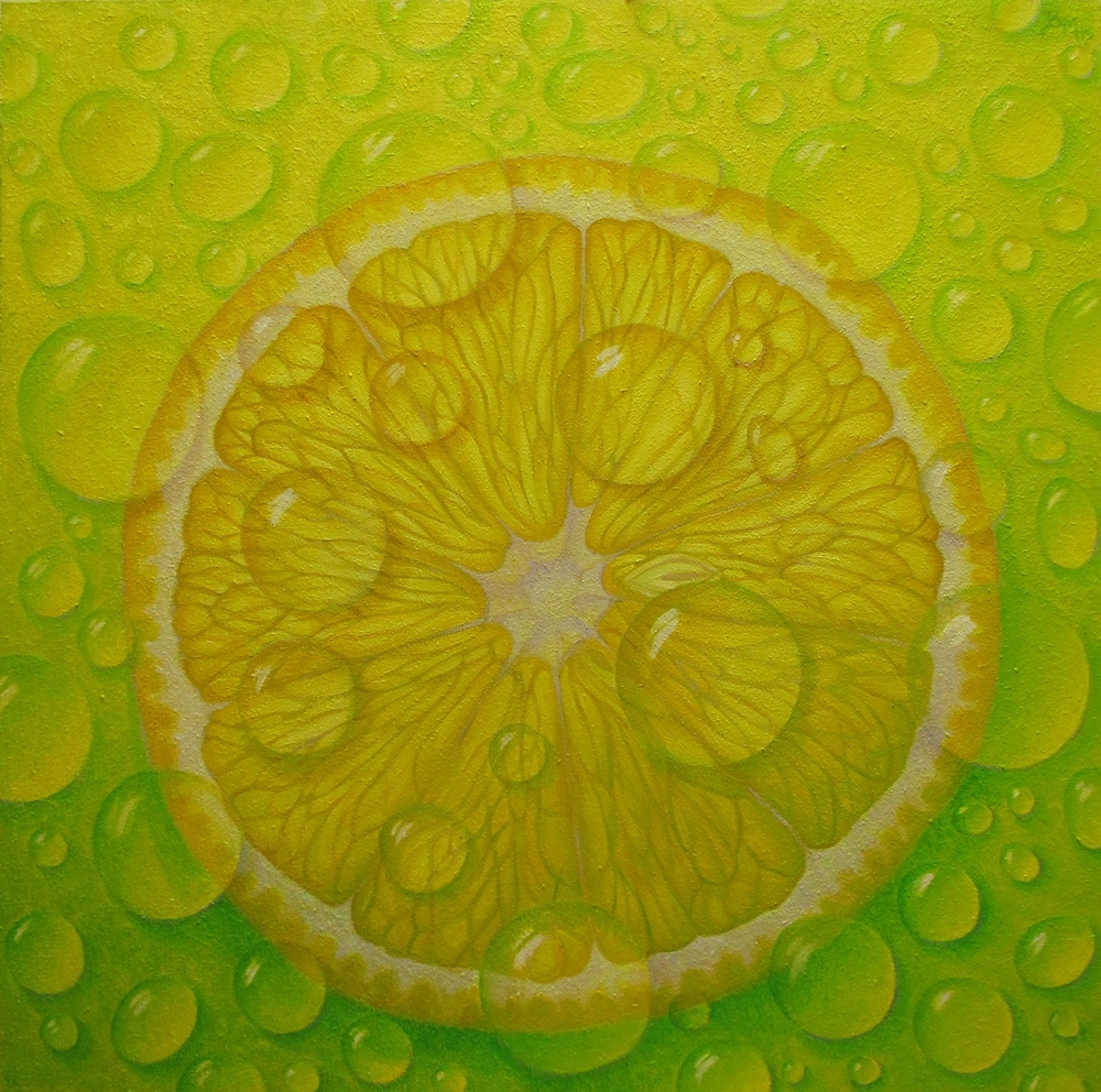 Lemon Drops 24 x 24, oil/panel