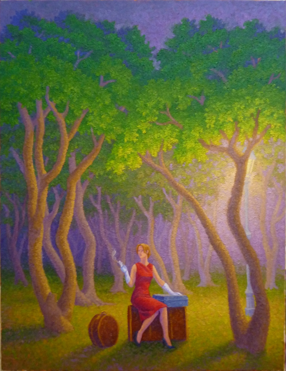 Waiting for Godot, 18 x 24, oil/canvas