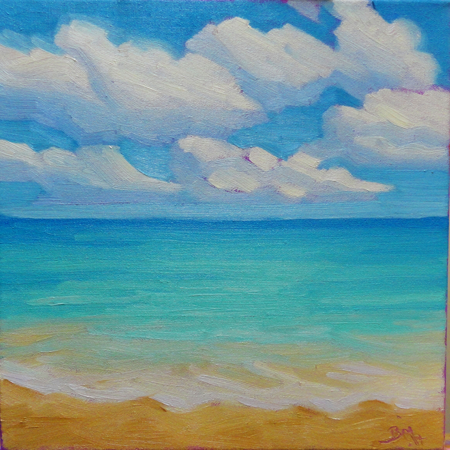 Summer  12 x 12 inches, oil/canvas