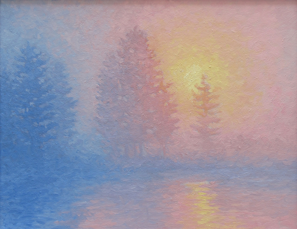 Morming Mist. 11 x 14, oil/canvas