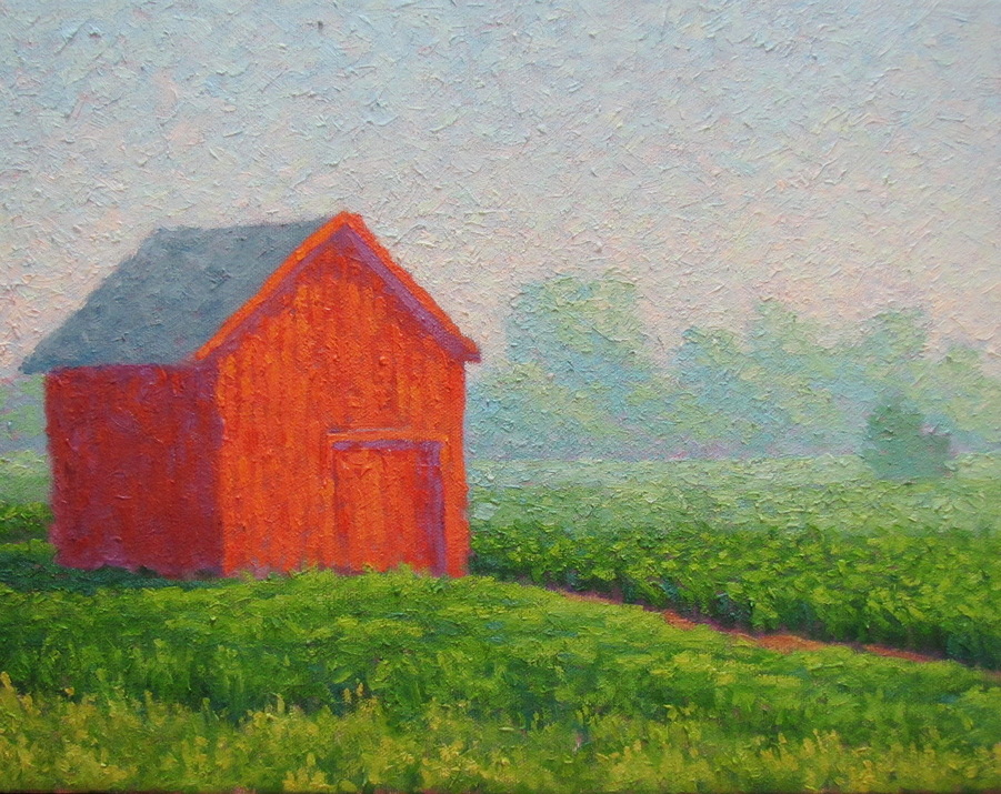Country Morning, 11 x 14 inches, oil/canvas