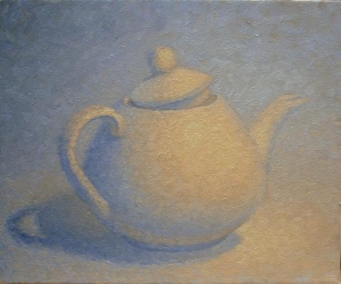 White Teapot,oil 11x14 inches