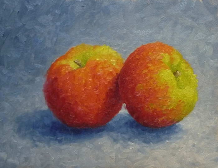 Two Macs, oil, 11x14 inches